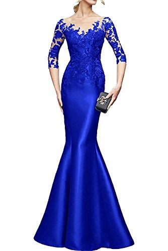 Brautmutterkleider Festlichkleider Lila La Braut Abendkleider Blau Promkleider Etuikleider Damen Langarm mia Royal Dunkel Spitze 8Tn6wT