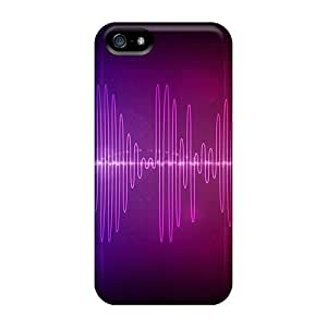 Fashionable GBQ14980qJFQ Iphone 5/5s Cases Covers For Audio Waves Protective Cases