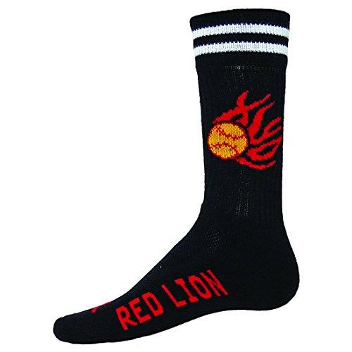Red Lion Black Burn Crew Softball Socks ( - Softball Socks With Flames