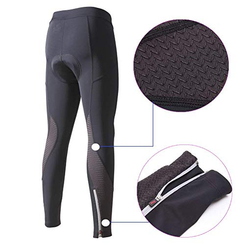 beroy Women 3D Padded Cycling Pants with Adjust Drawstring,Ladies Compression Tights Bike Pants(S Black) by beroy (Image #2)
