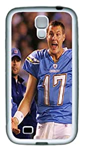 Custom samsung s4 case,Philip Rivers white whiteground diy samsung s4 case