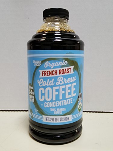 Trader Joe's Organic French Roast Cold Brew Coffee Concentrate 32 Oz. Bottle by Trader Joe's