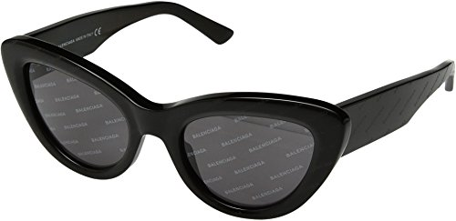 Balenciaga Women's BA0129 Black Logomania/Smoke Logomania Lens One - Womens Balenciaga Sunglasses