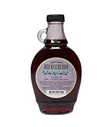 Helen\'s Huckleberry Syrup, by Spokandy with the GREAT Taste of Huckleberries! - 2 Pk (18 Fl Oz)