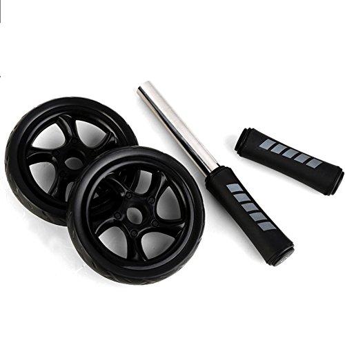 AB Roller abdominal et du ventre de roue pour l'exercice, entraînement facile à prendre en main sans coulissante avec une éponge genou Couverture