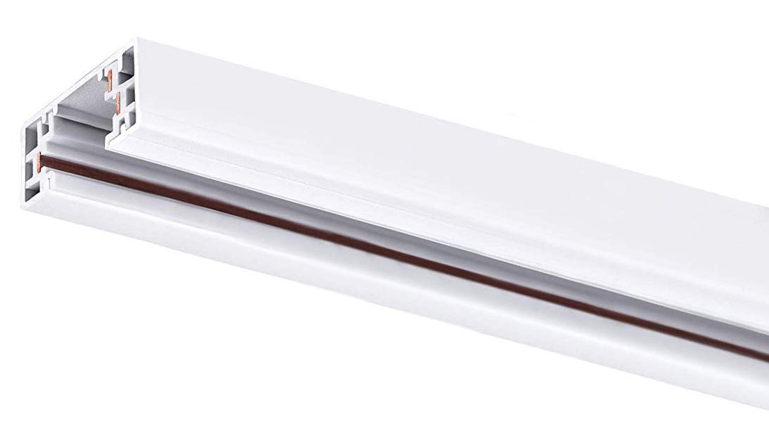 Cloudy Bay 46 Inch H Track Rail with Mounting Hardware,120V Single Circuit,White