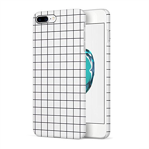 (White Checkered Pattern Apple iPhone 7 Plus Plastic Phone Protective Case Cover)