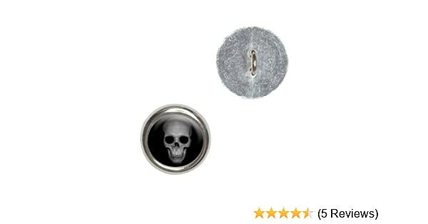 Black And White Skull Sewing Button 13mm 50pcs
