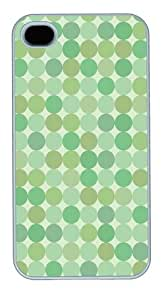 Green Dots1 PC Case Cover for iPhone 4 and iPhone 4S White