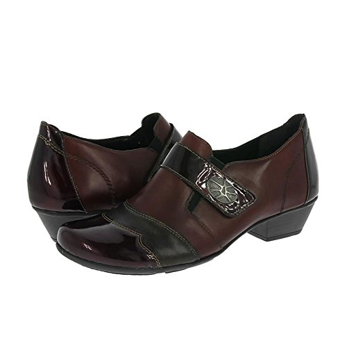 RemonteD7333 35 - Mocasines mujer Bordo/Patent AW16