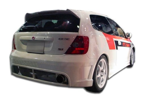 Duraflex ED-LPY-444 JDM Buddy Rear Bumper Cover - 1 Piece Body Kit - Fits Honda Civic 2002-2005