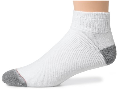(Hanes Men's Classics Cushion Ankle Socks, White, 10-13 (Shoe Size 6-12) (Pack of)