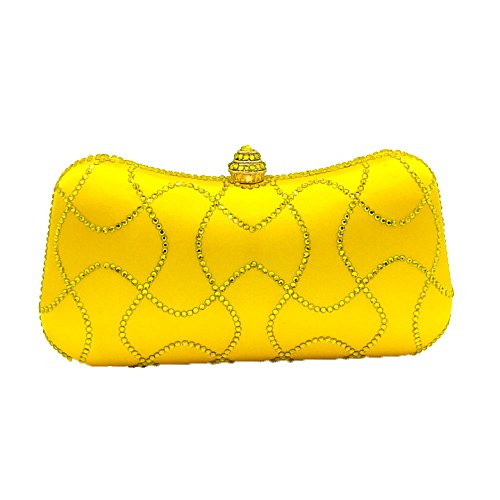 Sac Soirée à Yellow De Sac Mode Sac De Satin Diamant Banquet Sac Dîner D'oreiller Chaîne De De Strass Main De De Dames De De D'embrayage Sac Tw4zqw5