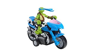 Las tortugas Ninja Mini moto-cycle Leonardo figura: Amazon ...