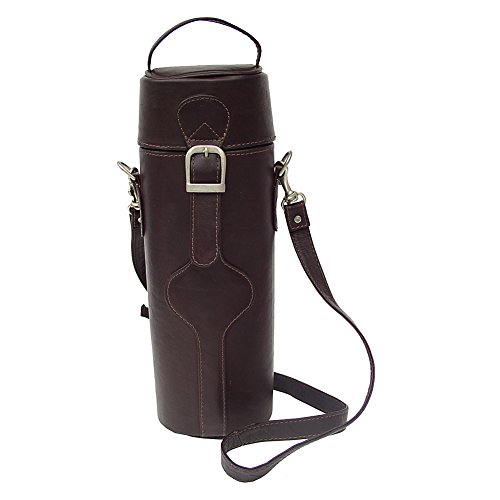 - Piel Leather Single Deluxe Wine Carrier, Chocolate, One Size