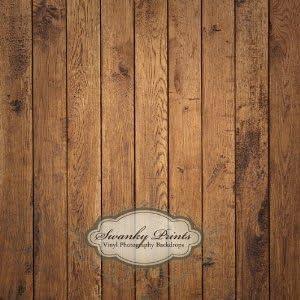 4ft X 4 Ft Brown Raw Wood Floordrop Vinyl Photography Backdrop