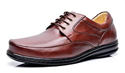 Opananken Men's Super Care Stefano Coffee Vegetable Tanned Sheep Leather Oxford 7 M (US)