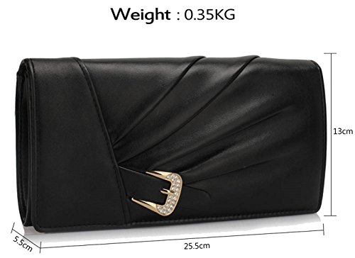 Gorgeous Evening Black DELIVERY Bag Satin Sparkly UK Crystal FREE SqrwfSaR