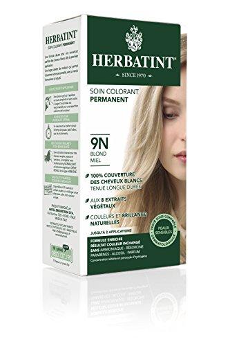 - Herbatint Permanent Herbal Haircolor Gel, 9N Honey Blonde, 4 Ounce