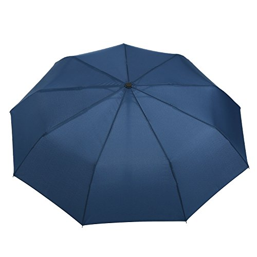 Repel Windproof Travel Umbrella With Teflon Coating Navy