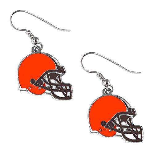 Cleveland Browns Dangle Logo Earring Set Charm Gift NFL Cleveland Browns Dangle Logo Earring Set Ch