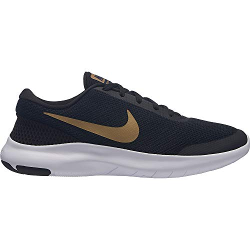 sports shoes f04a5 7e052 Nike Women s Flex Experience RN 7 Running Shoe Black Metallic  Gold Obsidian White