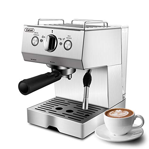 Espresso Machines 15 Bar Cappuccino Machine with Milk Frother for Espresso, Latte and Mocha, 1.5L Removable Water Tank…