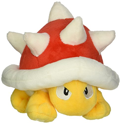 Little Buddy USA Super Mario All Star Collection Spiny Stuffed Plush, -