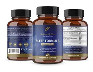 Extra Strength Sleep Formula with Valerian Root, Magnesium, GABA, Passion Flower Extract,