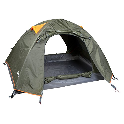 yodo Upgraded 3-Season 2 Person Waterproof Tent for Camping Backpacking,Double Layers with 2 Doors and Rainfly,Olive