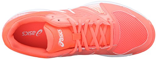 Asics Vrouwen Gel-domein 4 Volleybal Shoe Flash Koraal / Wit / Wit