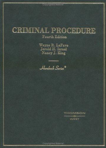 Criminal Procedure (HORNBOOK SERIES STUDENT EDITION)