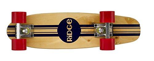 Ridge Retro Skateboard Mini Cruiser, rot, 22 Zoll, WPB-22