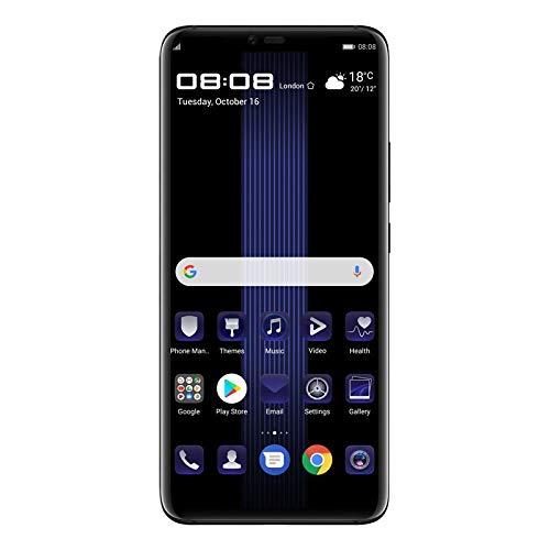 Huawei Mate 20 RS Porsche Design - International Version - No Warranty in The USA - GSM ONLY, NO CDMA (Black, 256GB/8GB) - Black,256GB/8GB
