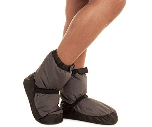 WENDYWU Unisex Ballet Dance Warm Bootie Shoes Grey DE5u2u1uF