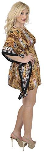 plus Marrone base LEELA donne bagno casual spiaggia costume dipinto bikini 1 di abbigliamento elastico top size da KAFTAN bikini kimono 4 LA antica tunica likre occultamento donne super di in i427 arte dBwAnq1