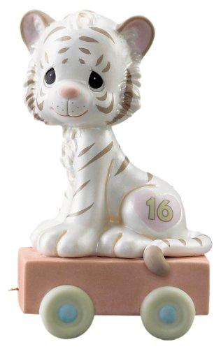 Precious Moments Birthday Train 16 and Feline Fine Figurine