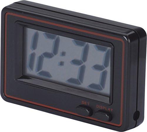 HR-imotion 10310801 Black Quartz Clock for Indoor Areas