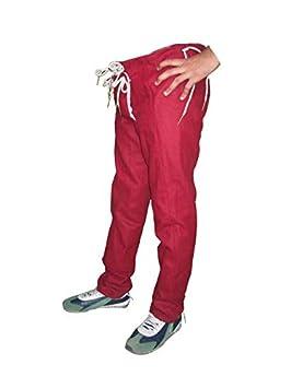 1e40f48db67 GDFB Pantalones para Hombre Siglo XV - Rojo oscuro Color, Pantalones  medievales de lana,