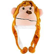Monkey Cute Polyester Plush Zoo Animal Winter Hat Beanie Aviator Style (Short)