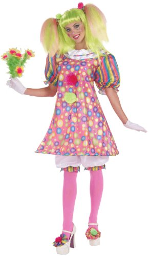 Forum Circus Sweeties Tickles The Clown Dress, Pink, Standard Costume -