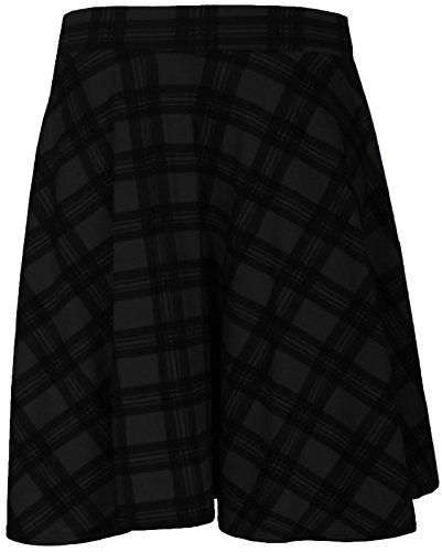 CimaMode Ladies Plus Soft Elasticated Knee Length Full Swing Skater Skirt 14-28