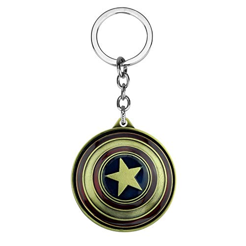 The Avengers Captain America Keychain Superhero Star Shield Pendant Keyring Fashion Car Key Chain Accessories Drop-shipping by Audree