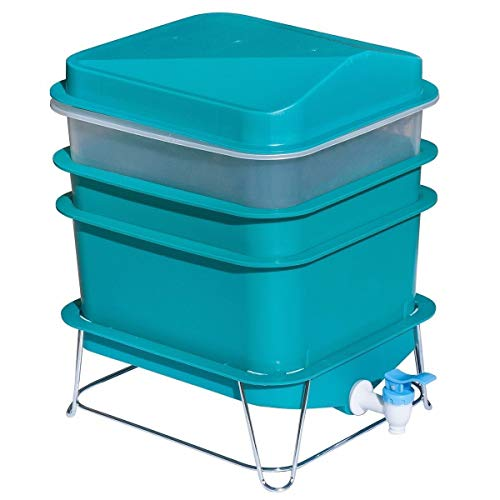 4-Tray Worm Factory Farm Compost Small Compact Gardening Soil Bin Set by Skallywags Depot by Unknown