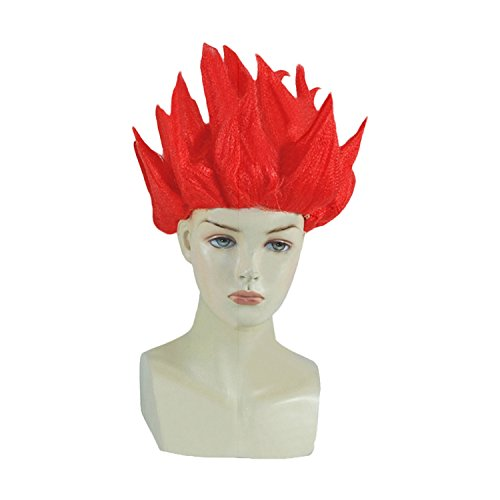 70s Roller Girl Costume (UU-Style Unisex Anime Wig Red Adult and Child Son Goku Cosplay Costume Kids Halloween Wig Prop)