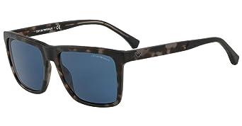 Emporio Armani 0EA4117 Gafas de sol, Matte Grey Havana, 57 ...
