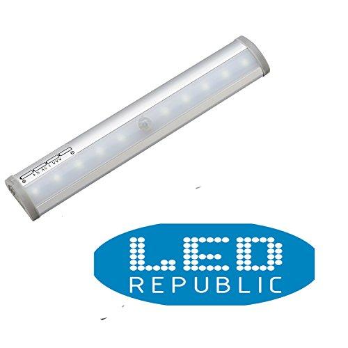 3-PACK Led Republic 3000K soft white Wireless Motion Sensing Stick-on Anywhere Step LED Light Bar with Magnetic Strip, - Costa Bristol