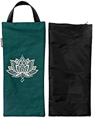 Cotton Unfilled Yoga Sand Bag (7.5 X 17 Inch) for Yoga Weights and Resistance Training, Lotus Hindu Spiritual