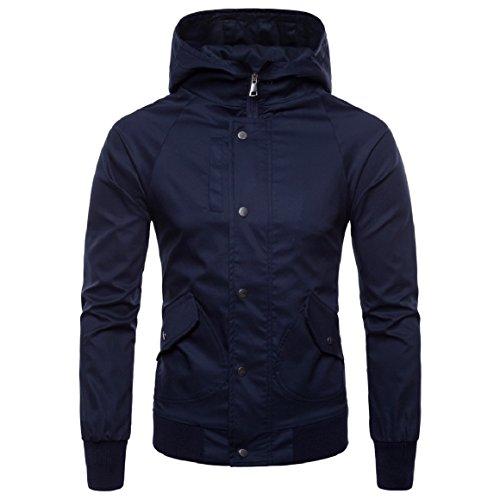 AS4 Full Men's Premium Size Fit Jacket Britain zip RkBaoye Windproof Hooded Plus qPXwSBWH
