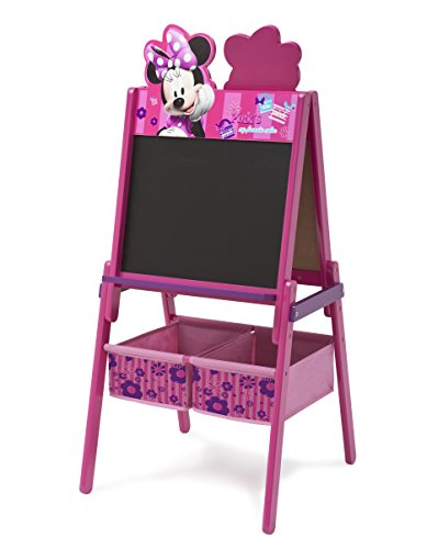 Delta Children Disney Wooden Double Sided Easel with Storage, Disney Minnie Mouse ()